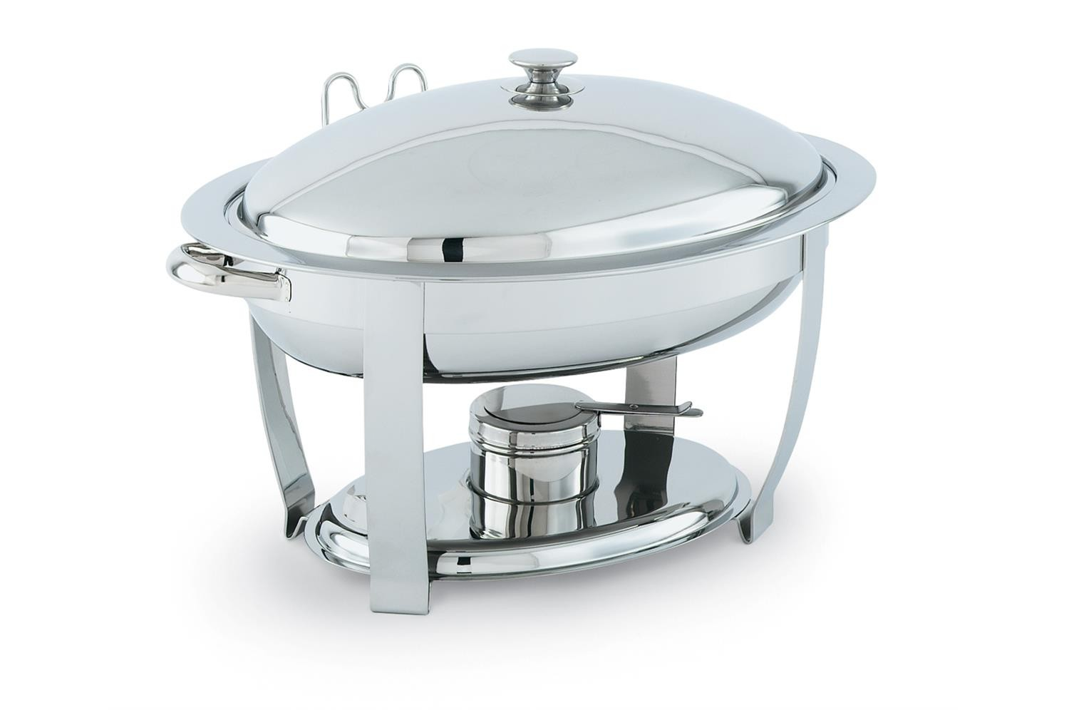 Vollrath 46500 Orion Large Mirror Finish Lift-Off Oval Chafer 6 Qt.