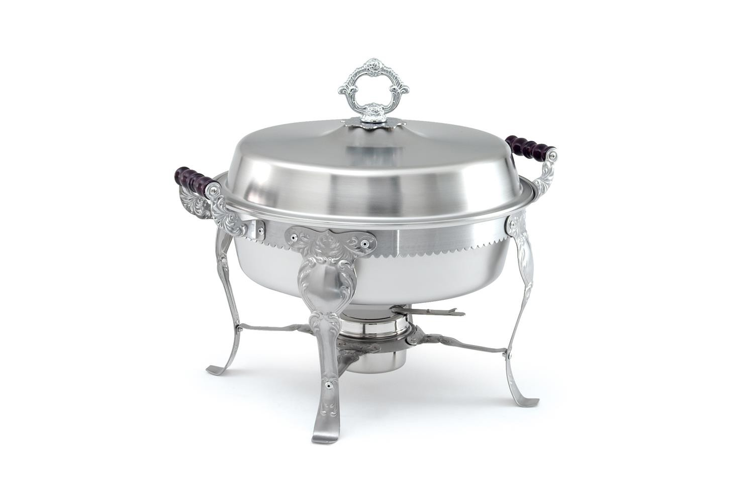 Vollrath 46860 Royal Crest Round Chafer with Wood Handles 6 Qt.