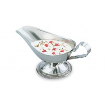 Vollrath 47575 Stainless Steel Gravy / Sauce Boat with Gadroon Base 5 oz.
