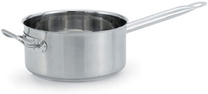 Vollrath 47743 Intrigue Stainless Steel Sauce Pan with Helper Handle 7 Qt.