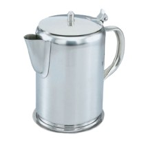 Vollrath 48365 Silver-Plated Coffee Server with Hinged Cover and Gadroon Base 2 Qt.