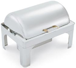 Vollrath 48755 Silver Plated New York New York Retractable Rectangular Chafer 9 Qt.