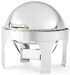 Vollrath 48765 Silverplated New York New York Round Retractable Chafer 6 Qt.