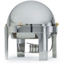 Vollrath 48770 Silverplated New York New York Round Roll Top Chafer 6 Qt.