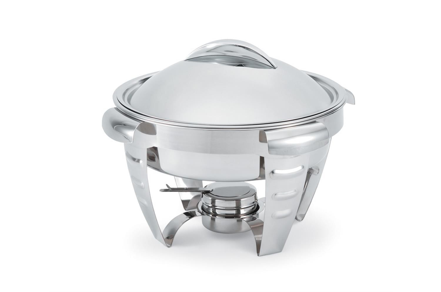 Vollrath 49521 Maximillian Steel Medium Round Chafer 4.2 Qt.