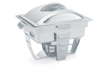 Vollrath 49529 Maximillian Rectangular Chafer Half Size with Stainless Steel Accents 4.1 Qt.