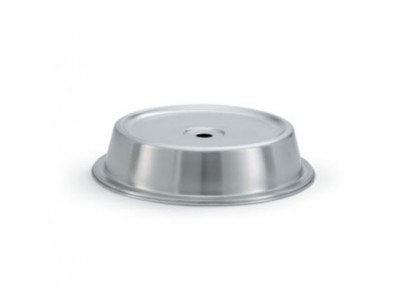 "Vollrath 62329 Satin Finish Stainless Steel Dome Plate Cover 12-7/16"" to 12-1/2"""