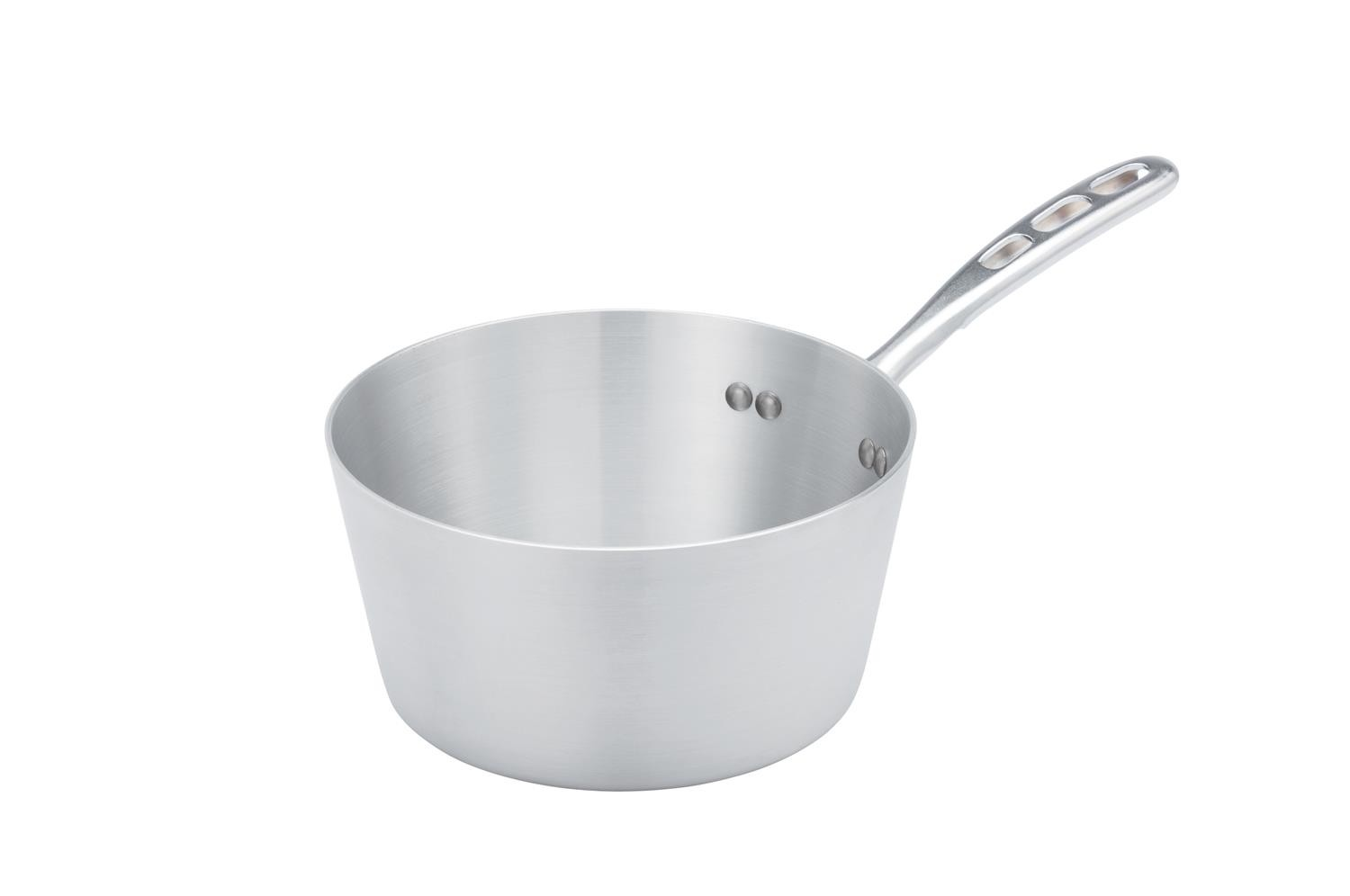 Vollrath 67303 Wear-Ever Aluminum Tapered Sauce Pan with TriVent Handle 3.75 Qt.