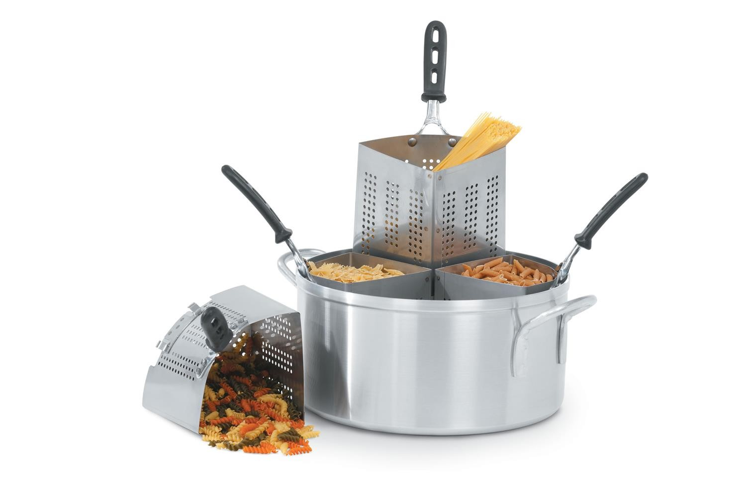 Vollrath 68127 Wear-Ever Aluminum Pasta and Vegetable Cooker Set 18.5 Qt.