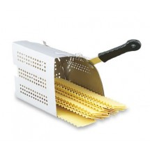 Vollrath 68130 Wear-Ever Perforated Stainless Steel Wedge Inset with TriVent Silicone Handle 3 Qt.