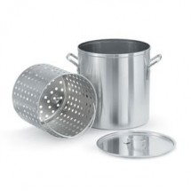 Vollrath 68272 Wear-Ever Aluminum Boiler / Fryer Set 60 Qt.
