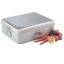 Vollrath 68390 Wear-Ever Heavy-Duty Aluminum Roaster with Handles and Cover 42 Qt.