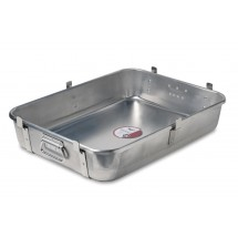 Vollrath 68362 Aluminum Roasting Pan Bottom with Straps 29-1/2 Qt.