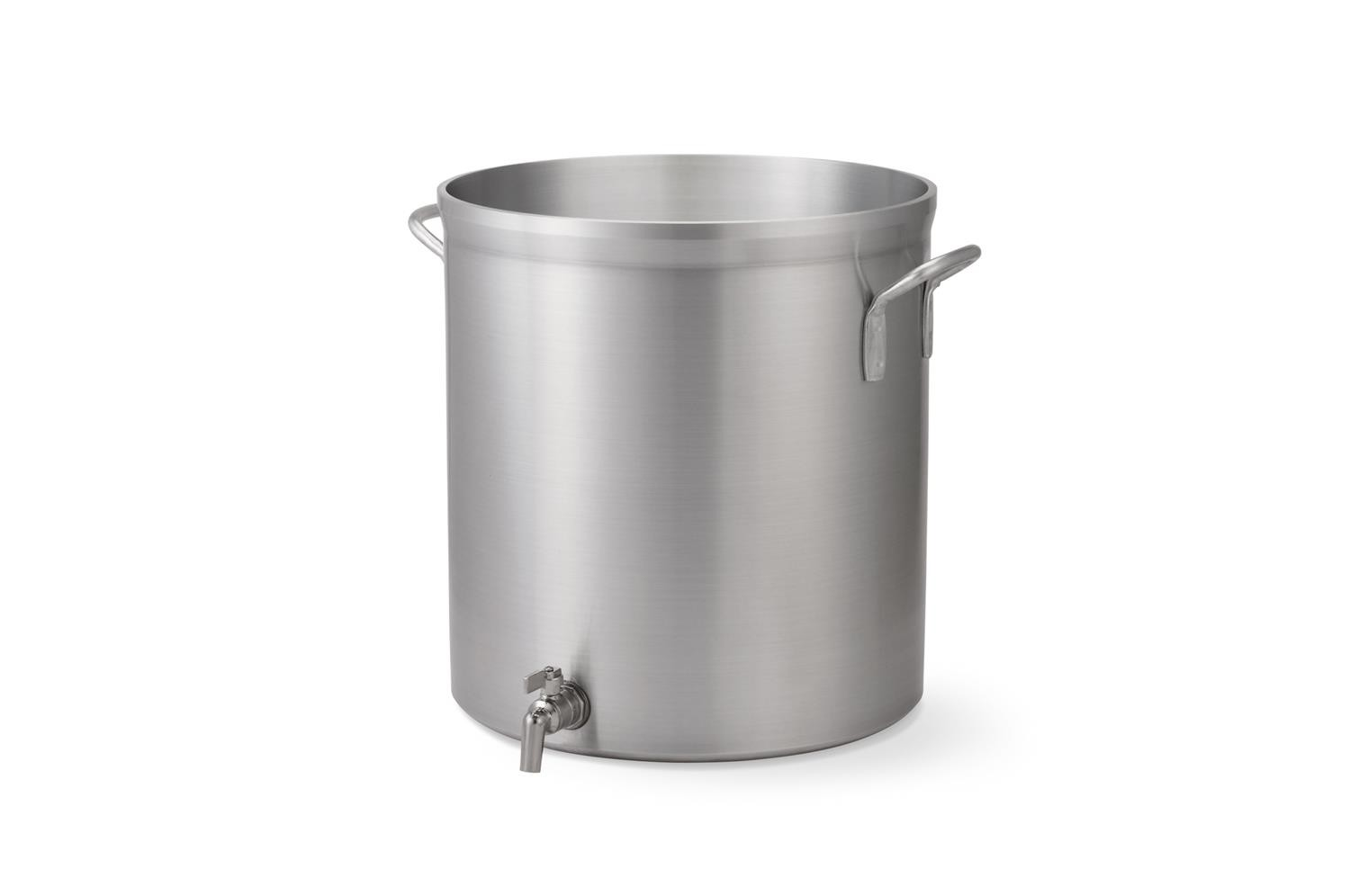 Vollrath 68631 Wear-Ever Classic Select Heavy-Duty Aluminum Stock Pot with Faucet 32 Qt.