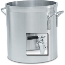 Vollrath 68641 Heavy-Duty Aluminum 40 Qt Stock Pot with Faucet