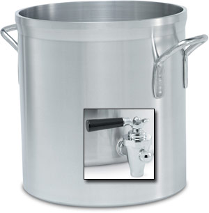 Vollrath 68701 Wear-Ever Classic Select Heavy-Duty Aluminum Stock Pot with Faucet 120 Qt.