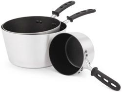 Vollrath 69308 Wear-Ever Tapered Sauce Pan with SteelCoat x3 Non-Stick Interior and TriVent Silicone Handle 8.5 Qt.