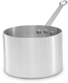Vollrath 69404 Wear-Ever Aluminum Straight Sided Sauce Pan with TriVent Plated Handle 4.5 Qt.