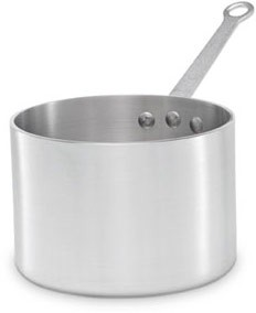 Vollrath 69406 Wear-Ever Classic Select Straight Sided Heavy Duty Aluminum Sauce Pan with TriVent Chrome Plated Handle 6.5 Qt.