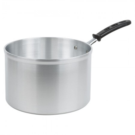Vollrath 69448 Wear-Ever Classic Select Straight Sided Heavy Duty Aluminum Sauce Pan with TriVent Silicone Handle 8.5 Qt.