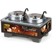 Vollrath 720202002 Full Size Soup Warmer Merchandiser with 7 Qt Accessories-Tuscan Graphics