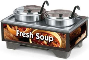 Vollrath 720202003 Full Size Soup Warmer Merchandiser with 7 Qt Accessories-Country Kitchen Graphics
