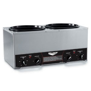 Vollrath 72029 Cayenne Twin Countertop Warmer with Insets, Covers, and Ladles 7 Qt.