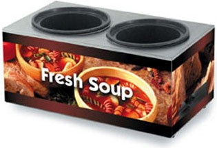 Vollrath 7203003 Twin Well Soup Merchandiser Base with Country Kitchen Graphics 7 Qt.