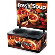 Vollrath 72031013 Twin Well Soup Merchandiser with Menu Board