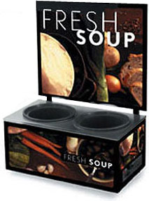 Vollrath 7203102 Twin Well Soup Merchandiser with Menu Board