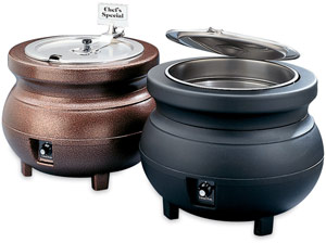 Vollrath 72176 Copper Soup Kettle Merchandiser Package with Inset & Cover
