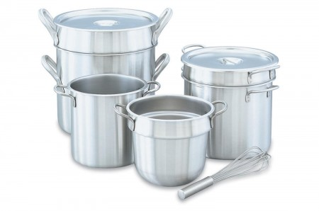 Vollrath 77070 Stainless Steel Double Boiler Set 7 Qt.