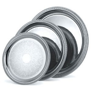 Vollrath 82366 Elegant Reflections Silver Plated Stainless Steel Round Catering Tray 12-3/8""