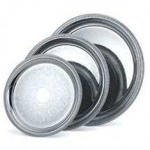 Vollrath 82367 Elegant Reflections Round Silver Plated  Stainless Steel Catering Tray 15 1/4