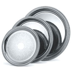 """Vollrath 82368 Elegant Reflections Silver Plated Stainless Steel Round Catering Tray 18-5/8"""""""