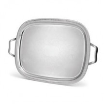 Vollrath 82373 Elegant Reflections Oval Silver Plated Tray with Handles 23 1/2