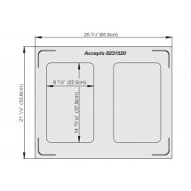 Vollrath 8250214 2 Rectangle Pan Double Well Template