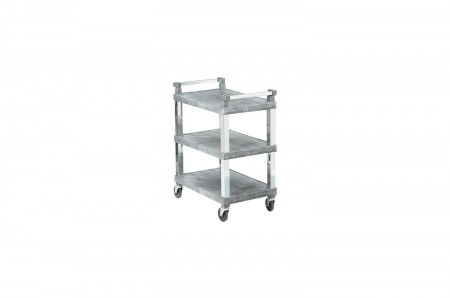 Vollrath 97102 3 Shelf Utility Cart with Chrome Uprights