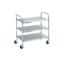 "Vollrath 97105 Stainless Steel 3 Shelf Utility Cart 24"" x 16"" x 36-1/2"""