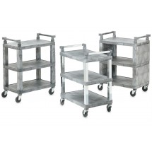 Vollrath 97111 3 Shelf Closed-End Utility Cart 200 lb. Capacity