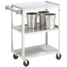 "Vollrath 97125 Stainless Steel 3 Shelf Utility Cart 27-1/2"" x 15-1/2"" x 32-5/8"""