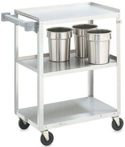 "Vollrath 97126 Stainless Steel 3 Shelf Utility Cart 30-7/8"" x 17-3/4"" x 33-3/4"""