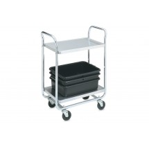 "Vollrath 97160 Thrift-I-Cart Chrome 2 Shelf Cart 24"" x 16"" x 36-1/2"""