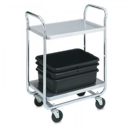 "Vollrath 97161 Thrift-I-Cart Chrome 2 Shelf Cart 33"" x 21"" x 36-1/2"""