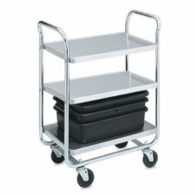 "Vollrath 97166 Thrift-I-Cart Chrome 3 Shelf Cart 24"" x 16"" x 36-1/2"""