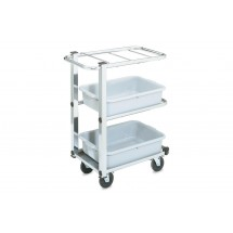 "Vollrath 97186 Cantilever Bussing Cart 27"" x 16"" x 34-1/2"""
