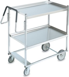 "Vollrath 97202 Heavy-Duty Stainless Steel 2 Shelf Utility Cart 44"" x 23"" x 44-1/2"""