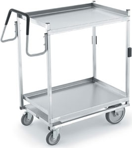 "Vollrath 97205 Heavy-Duty Stainless Steel 2 Shelf Utility Cart 39"" x 20"" x 44-1/2"""
