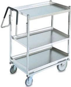 "Vollrath 97206 Heavy-Duty Stainless Steel 3 Shelf Utility Cart 39"" x 20"" x 44-1/2"""