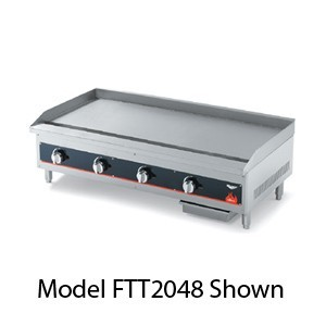 """Vollrath 972GGT Cayenne Heavy Duty Countertop Griddle with Thermostatic Controls 72"""""""